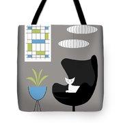 Black Egg Chair Tote Bag