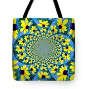 Black Eyed Susan Kaleidoscope Tote Bag