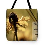 Black-eyed Susan  Psalm Tote Bag