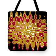 Black Gold Abstract Tote Bag