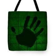 Black Hand Green Tote Bag