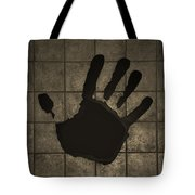 Black Hand Sepia Tote Bag