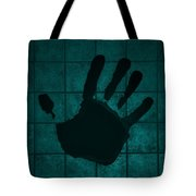 Black Hand Turquoise Tote Bag