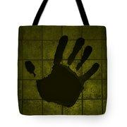 Black Hand Yellow Tote Bag