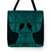 Black Hands Turquoise Tote Bag