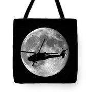 Black Hawk Moon Vertical Tote Bag