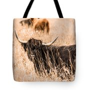 Black Highland Cow Tote Bag