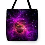 Black Hole In Space Tote Bag