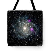 Black Holes In Spiral Galaxy Nasa Tote Bag by Rose Santuci-Sofranko