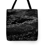 Black Ice Abstract Tote Bag