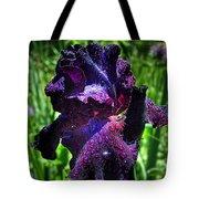 Black Iris After The Rain Tote Bag