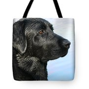 Black Labrador Retriever After The Swim Tote Bag