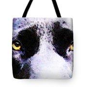 Black Labrador Retriever Dog Art - Lab Eyes Tote Bag by Sharon Cummings