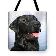 Black Labrador Retriever Dog Smile Tote Bag