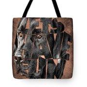Black Labrador Typography Artwork Tote Bag