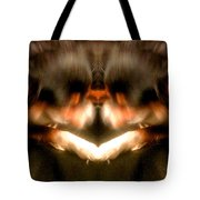 Black Leather Kaleidoscope Tote Bag