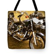 Black Motorcycle  Tote Bag