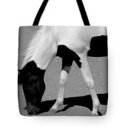 Black N White Horse Tote Bag