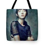Black On Blue  Tote Bag