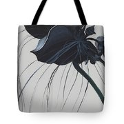 Black Orchid Tote Bag