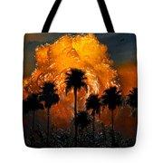 Black Palms At Dusk Tote Bag