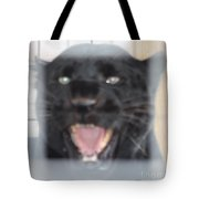Black Panther Caged And Angry Tote Bag