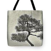 Black Pine Bonsai In Monochrome Tote Bag