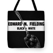 Black Plus White Book Cover Tote Bag