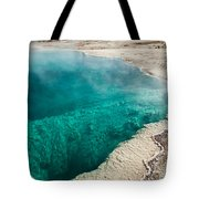Black Pool In West Thumb Geyser Basin Tote Bag