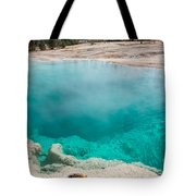 Black Pool In West Thumb Geyser Basin In Yellowstone National Park Tote Bag
