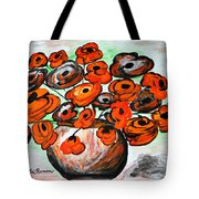 Black Poppies Tote Bag by Ramona Matei