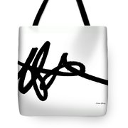 Black Ray -minimal Black And White Abstract By Laura Gomez - Horizontal Format Tote Bag