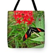 Black Red And White Butterfly Tote Bag