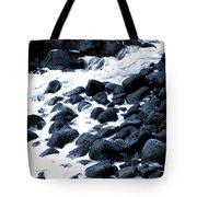 Black Rocks Along The Puna Coast Tote Bag