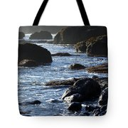 Black Rocks And Sea  Tote Bag