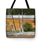 Black Sand Basin Therma Runoff Yellowstone Tote Bag