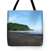 Black Sand Beach In Costa Rica Tote Bag
