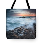 Black Sea Rocks Tote Bag