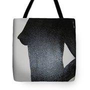Black Silhouette Tote Bag