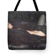 Black Silk Tote Bag