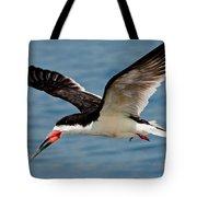 Black Skimmer In Flight Tote Bag