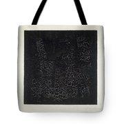Black Square Tote Bag