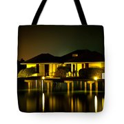 Black Starry Night In Tropics 3 Tote Bag