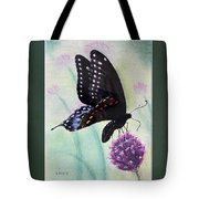 Black Swallowtail Butterfly By George Wood Tote Bag