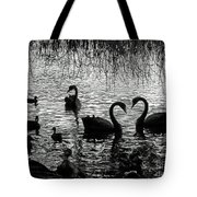 Black Swan Silhouette Tote Bag