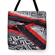 Black Thai Fabric 04 Tote Bag