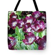 Black Tulips Tote Bag