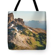 Black Tusk Mountain And Helm Lake Tote Bag