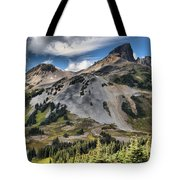 Black Tusk Over Alpine Meadows Tote Bag