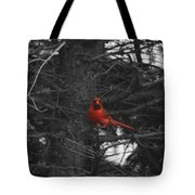 Black White And Red Tote Bag